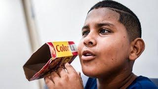 El niño de 'China' llegó a Barranquilla a mejorar su visión