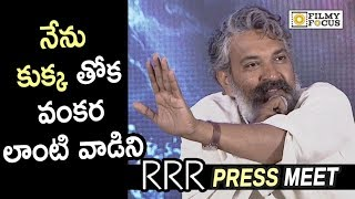 Rajamouli Shocking Punch to Media about using Graphics and VFX in RRR Movie @Press Meet