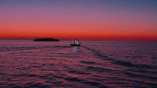 Fishing at sunset | 4K