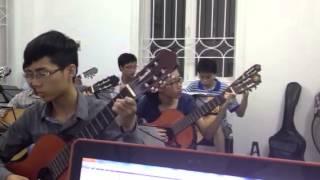 Tập đàn - Hallelujah - Học sinh tập đàn