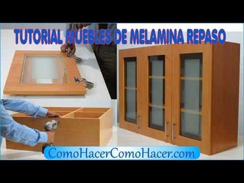 TUTORIAL MUEBLES DE MELAMINA MÓDULO DE REPASO - YouTube