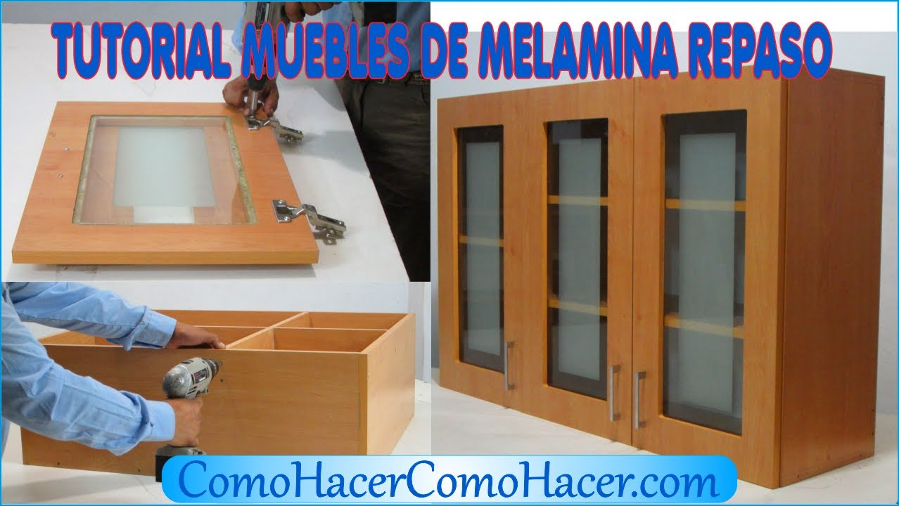 tutorial muebles de melamina m dulo de repaso youtube