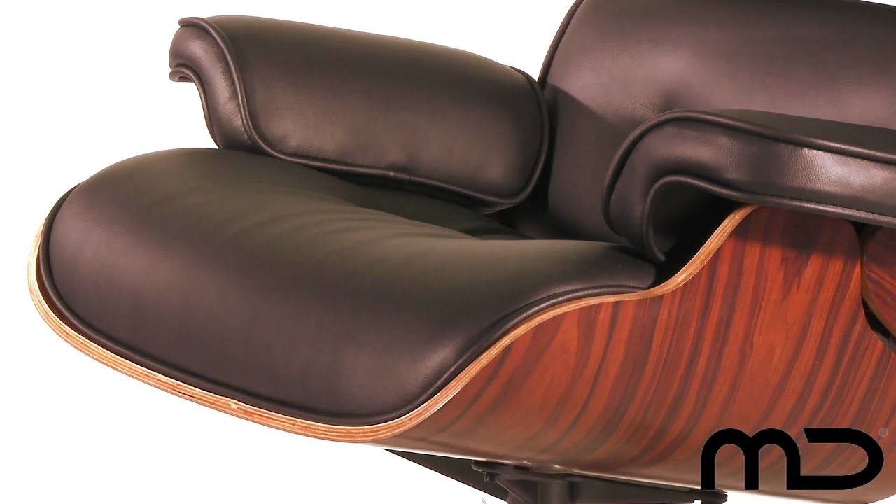 Lounge Chair And Ottoman Eames Reproduction Black Classic Edition From  Milan Direct Australia   YouTube