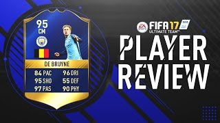 FIFA 17 | TOTS De Bruyne (95) Player Review!! w/Gameplay & In-Game Stats