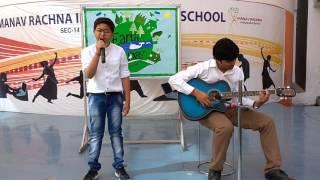 Mohan Chaudhary of MRIS-14, Faridabad singing