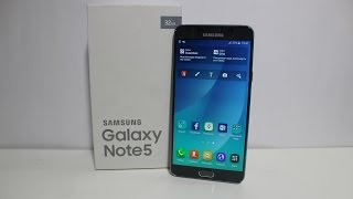 Samsung Galaxy Note 5 Silver Titanium Unboxing - Indian Retail Unit