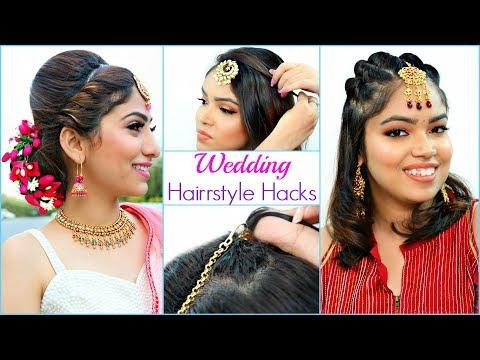 Easy HAIRSTYLE Hacks For WEDDING Season | #Bridal #Party #Anaysa thumbnail
