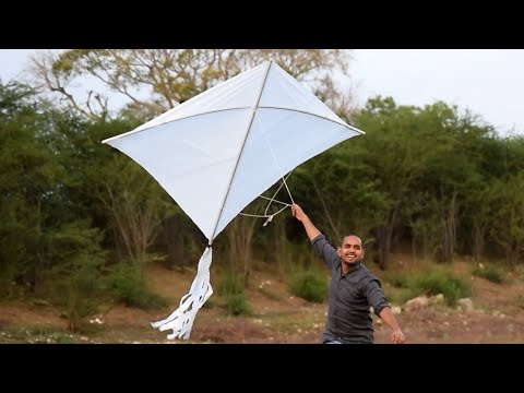 King Size Kite - Making And Flying | Super Big