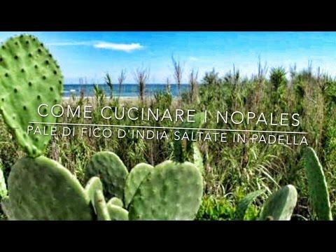 Cucinare le pale di Fico d'Inda: Nopales saltati con aglio, zenzero e peperoncino