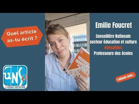 #1minAvec Emilie Foucret, Conseillère Nationale #UnsaEduc - #QDE #QuestionsDEduc