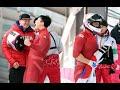 아시아 최초 '은메달' 획득에 기쁨의 포효하는 한국 봅슬레이 4인방