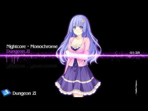 Nightcore - Monochrome【Miku】