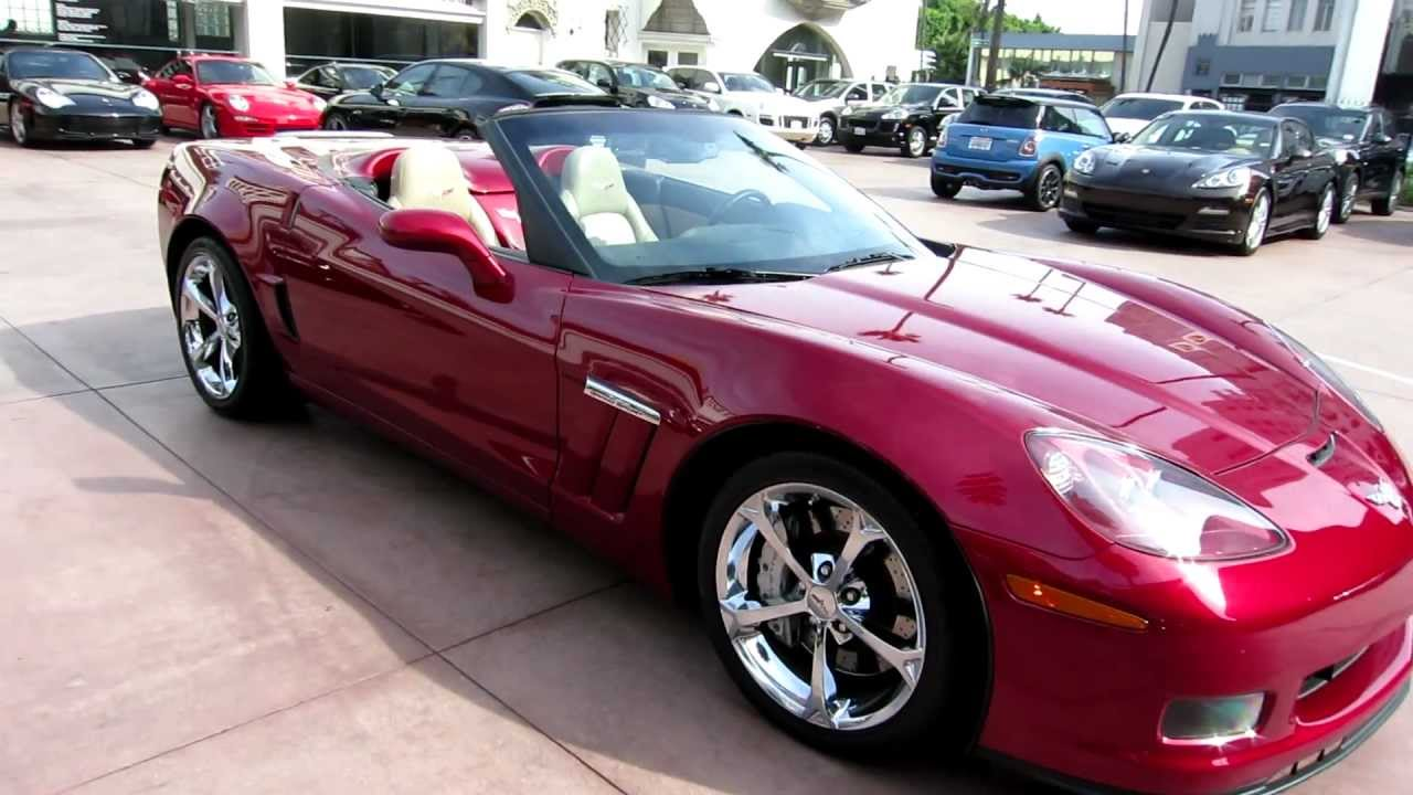 2010 chevy corvette grand sport convertible c6 gs convertible crystal red for sale beverly hills. Black Bedroom Furniture Sets. Home Design Ideas