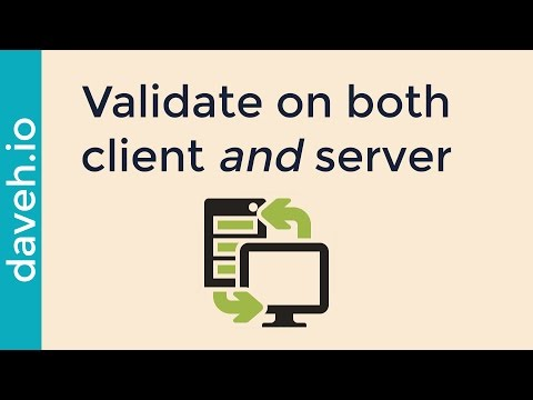 Why you should validate data on the server as well as the client