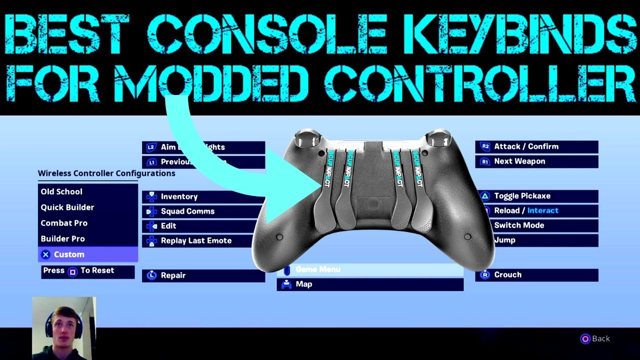 New Best Console Keybinds For Paddle Controller Fortnite Youtube
