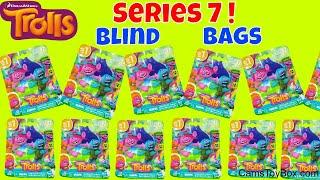 Trolls Series 7 Blind Bags Dreamworks Hug N Reveal Color Change Toys Opening Review