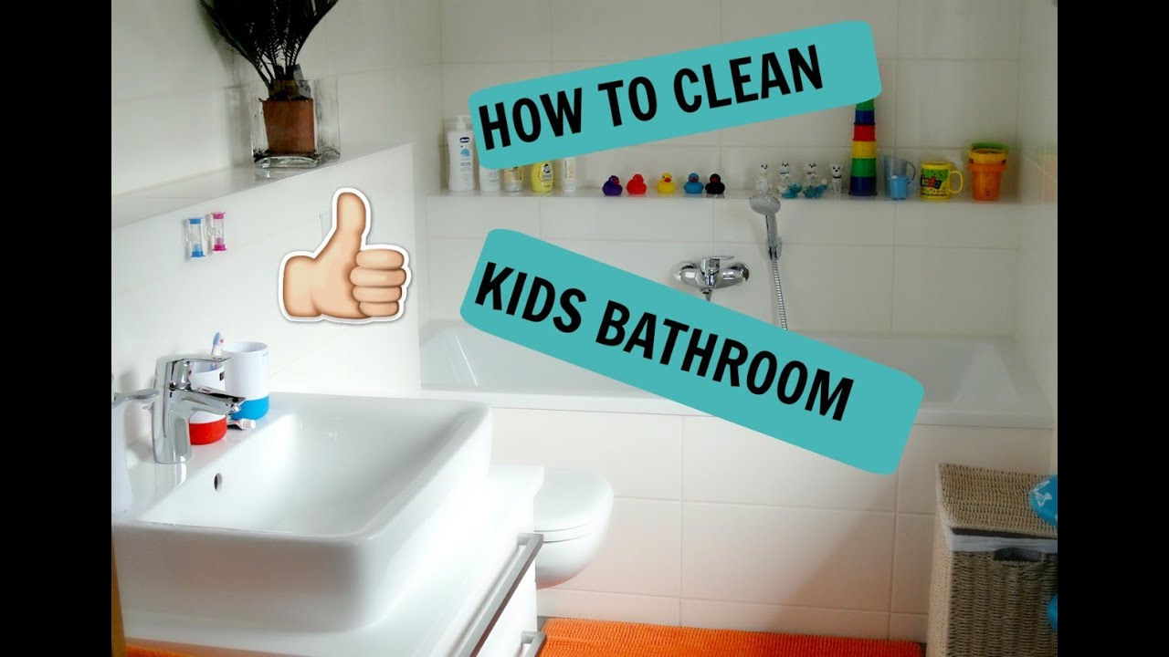 Kids can clean the bathrooms - Kids Bathroom Speed Cleaning