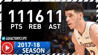 Lonzo Ball Triple-Double Full Highlights vs Nuggets (2017.11.19) - 11 Pts, 11 Ast, 16 Reb