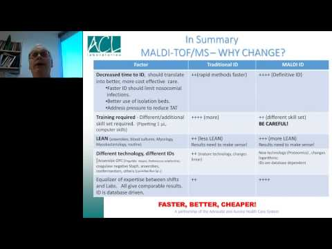 Michael Costello - Implementation of MALDI TOF Technology in Clinical Microbiology