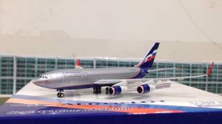 VERY RARE! Unboxing Aeroflot IL-96-300 current livery