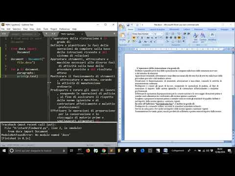 Read text in Word document with Python