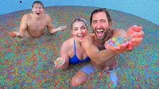 Last To Leave Pool Of Orbeez Wins! *100 Million*