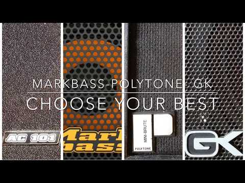 BASS AMP LINE OUT TEST MARKBASS vs POLYTONE vs GALLIEN KRUEGER