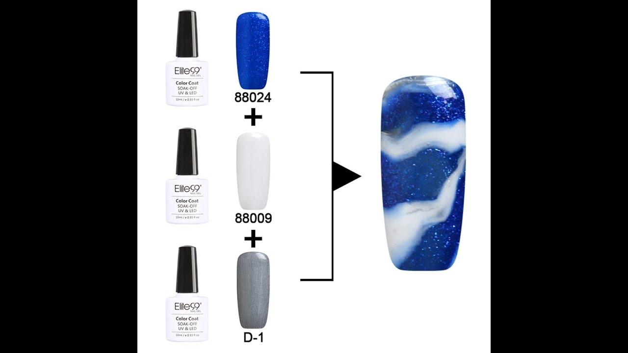 Nail Polish Marble Effect On Glass: Elite99 UV LED Soak Off Changeable Gel Nail Polish- Magic