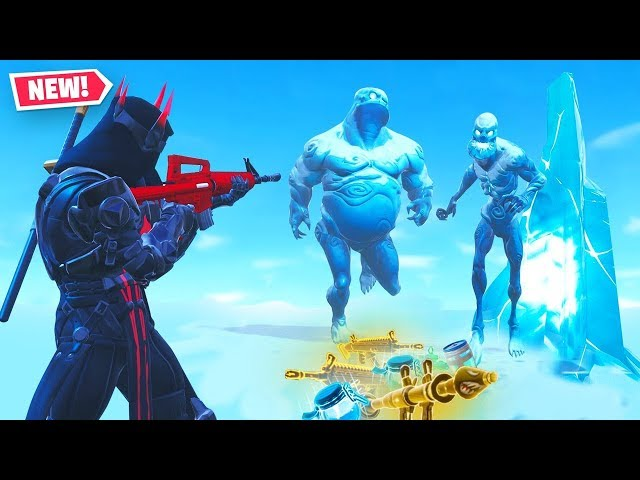 *ONLY* Using ICE ZOMBIE LOOT in Fortnite