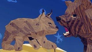 СИМУЛЯТОР ДИКОЙ КОШКИ #22 Мультик игра. Кид стал маленьким котенком рысью #ПУРУМЧАТА