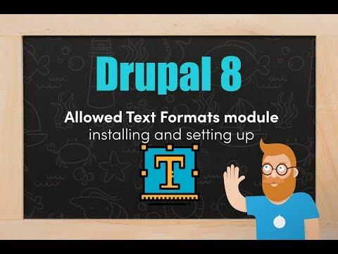 Allowed Text Formats module in Drupal 8 - installing and setting up thumbnail