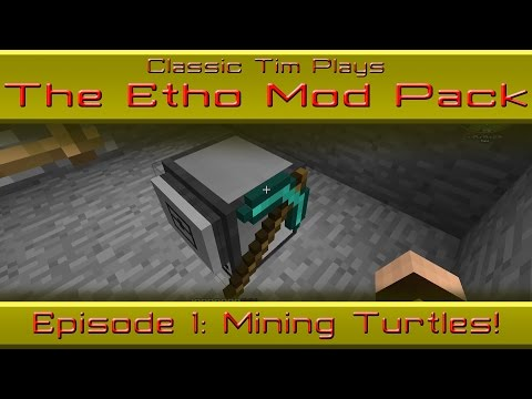 Etho Mod Pack - Episode 1: Mining Turtle Strip Mining Program