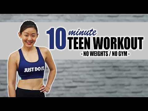 10-Minute Workout for Teenagers | No Weights, No Jumping! | Joanna Soh