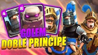 MAZO de GOLEM y DOBLE PRINCIPE / EL MEJOR MAZO para EL X2 de ELIXIR | Clash Royale