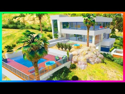 AMAZING GTA 5 BILLIONARE MANSIONS, MEGA LUXURY HOUSES, SKY P