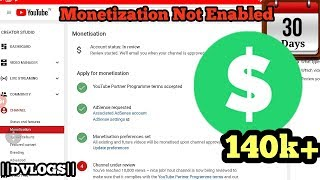 Channel Under Review | After 10k Views | Monetization Not Enabled (Adsense) | 30+ Days | 140k+ View