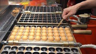 台灣街頭美食 - 日本長崎蜂蜜雞蛋糕 / QQ涼圓 / 鍋貼