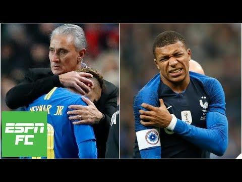 Kylian Mbappe and Neymar injured in friendlies: Who is more valuable? | Paris Saint-Germain