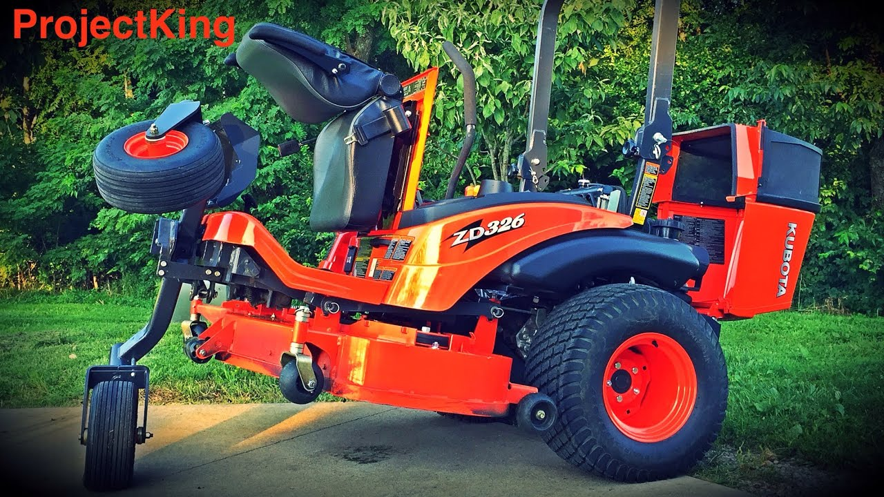 All Jacked Up!! Kubota ZD326 Jack Demo