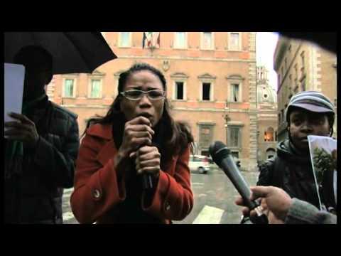 LA MANIFESTATION DES CONGOLAIS DE L'ITALIE A ROME