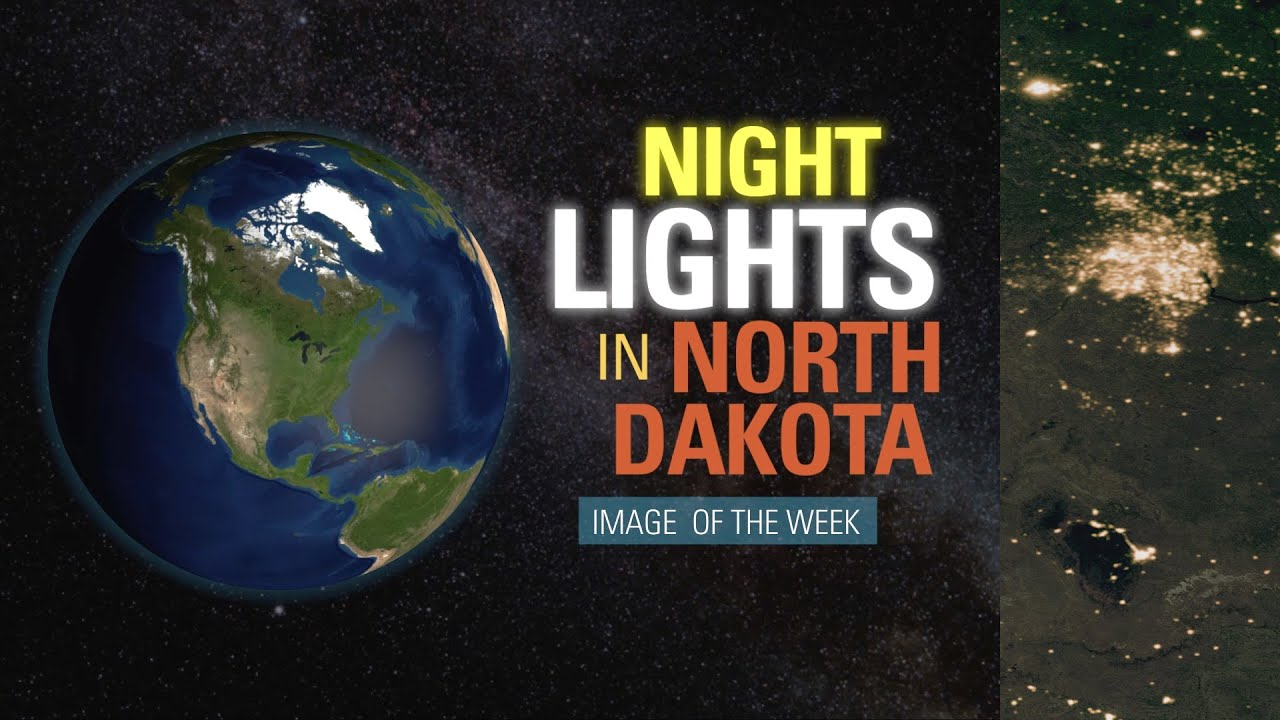 Night Lights in North Dakota