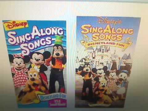 Disney Sing Along Songs Disneyland Fun Youtube