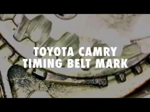 1998 Toyota Camry 22 timing belt marks - YouTube