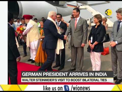 German President Frank-Walter Steinmeier arrives in India