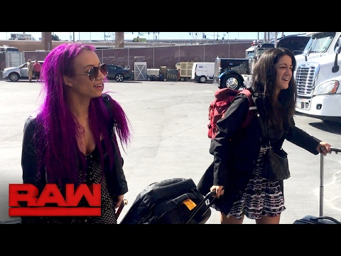Bayley arrives at Raw with Sasha Banks by her side: Raw Exclusive, Feb. 13, 2017