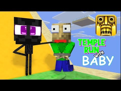 Monster School: TEMPLE RUN CHALLENGE WITH BABY MONSTER - Funny Animation