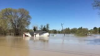 Flooding in Sanford, Michigan