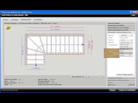configurateur web 3d batitools pour les escaliers e b a youtube. Black Bedroom Furniture Sets. Home Design Ideas