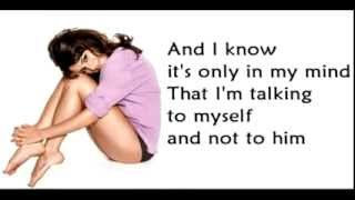 On my Own glee version - Lea Michele as Rachel Berry - Les Miserables (Lyrics)
