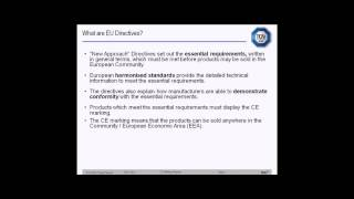 What are EU Directives - CE marking